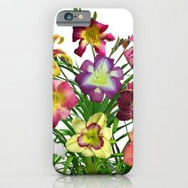 Celebration of daylilies I, Hemerocallis flowers iPhone Case