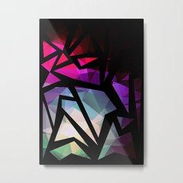 Abstract print of triangles polygon print. #polygon #abstract Metal Print