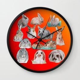 Bunny Mix Wall Clock