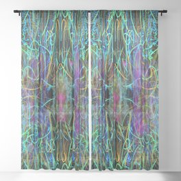 Abstract Energy 4 Sheer Curtain