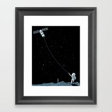 Satellite Kite Framed Art Print