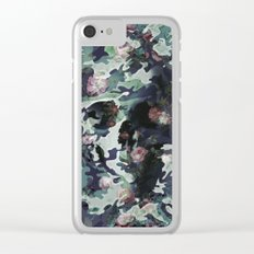 Camouflage Skull V2 Clear iPhone Case