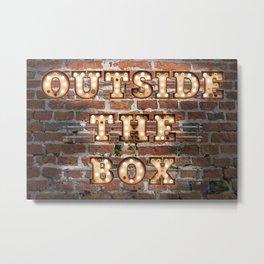 Outside the Box - Brick Metal Print