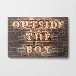 Outside the Box - Brick Metal Print