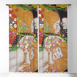 Gustav Klimt - The Mermaids oceanic portrait painting Blackout Curtain