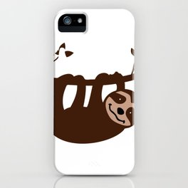 Sloth Lover Let's Hang Out Cute Sloth Gift iPhone Case