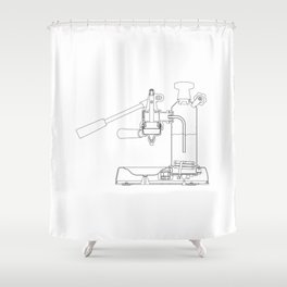 La Pavoni Lever Espresso Machine Shower Curtain