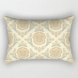 Golden Retriever with Thistle Damask Pattern Rectangular Pillow