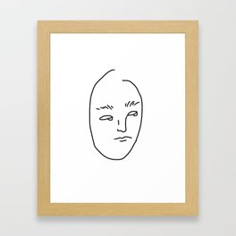 SORRY MOM I'M TOO BORED Framed Art Print