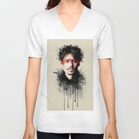 johnny depp V-neck T-shirts featuring Johnny Depp by Brigitta