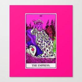 3. The Empress- Neon Dreams Tarot Canvas Print