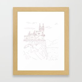 Old medieval castle on the cliff, wall art Framed Art Print