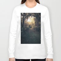 forrest Long Sleeve T-shirts featuring Forrest Haven  by Night Flyer Abstract Arts