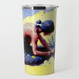 "William Leigh Western Art ""Gathering Peyote"" Travel Mug"