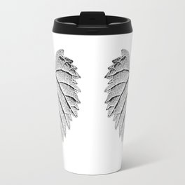 backlight leaf drawing Travel Mug