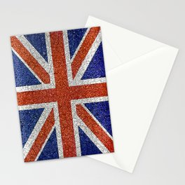 England Flag Vivid Grunge Style Stationery Cards