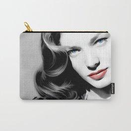 Lauren Bacall Large Size Portrait Carry-All Pouch