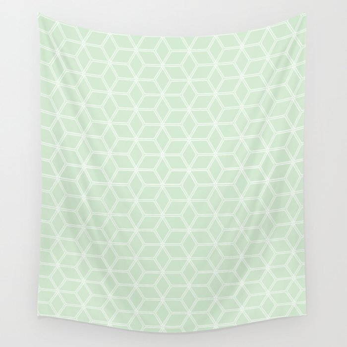 Hive Mind Light Green #395 Wall Tapestry