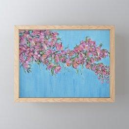 Cherry Blossoms, Pink Flower Wall Art Prints, Impressionism Framed Mini Art Print