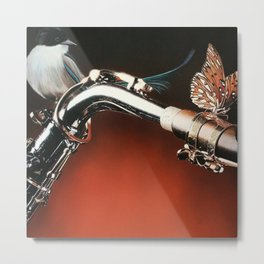 Flying Sax Metal Print