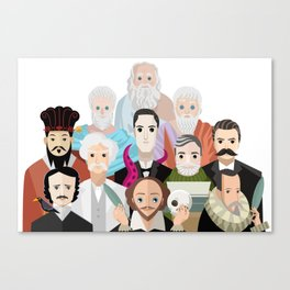 great philosophers and writers from all times Canvas Print