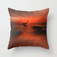 yoga Throw Pillows featuring YOGA by Keitopolis