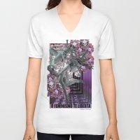 feminism V-neck T-shirts featuring Feminism 2 by Alaska Ferreira