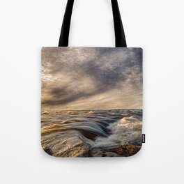 Where The River Kisses The Sea Tote Bag
