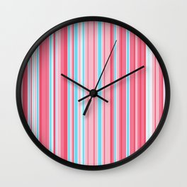 Stripe obsession color mode #5 Wall Clock