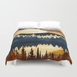 Fall Sunset Duvet Cover