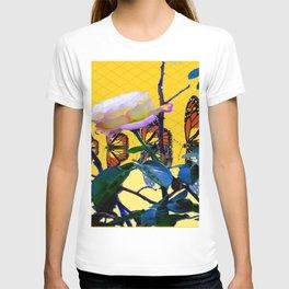 MONARCH BUTTERFLIES & ROSE ABSTRACT T-shirt
