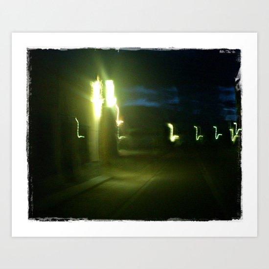 Luz de saxo:::... Art Print