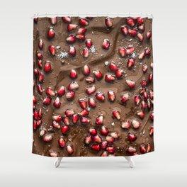 Chocolate Pomegranate Shower Curtain