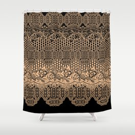 lace border with floral and geo mix Shower Curtain