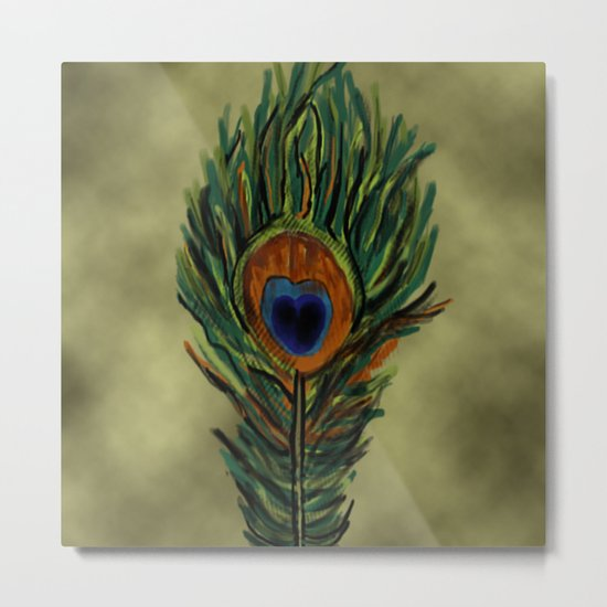 Peacock Pattern  Metal Print