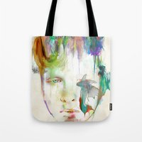 archan nair Tote Bags featuring Organic by Archan Nair