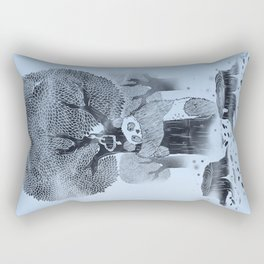 The tree hugger Rectangular Pillow