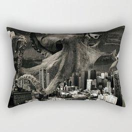 Modern Freedom Black and White Rectangular Pillow