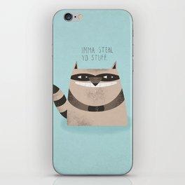 Sneaky Raccoon iPhone Skin