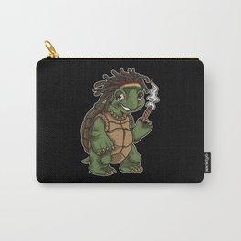 Weed Smoking Turtle | Cannabis THC CBD Rasta Carry-All Pouch
