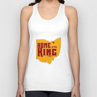 lebron Tank Tops featuring Home of the King (Red) by Denise Zavagno