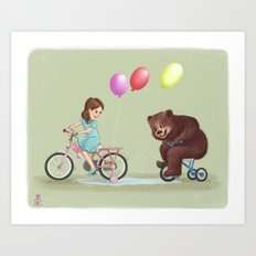 Bike Race Art Print