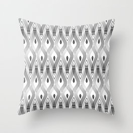 Art Deco 56 . black and gray spiral . Throw Pillow