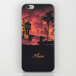HOTLINE MIAMI 2018 PINK/ORANGE iPhone Skin