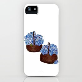 Two Baskets of Hydrangea Love iPhone Case