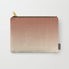 Pratt and Lambert Red River 4-21 and Dover White 33-6 Ombre Gradient Blend Carry-All Pouch