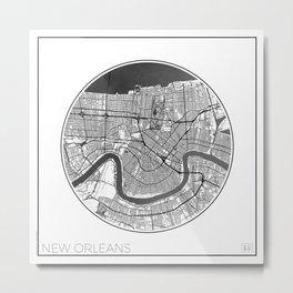 New Orleans Map Universe Metal Print