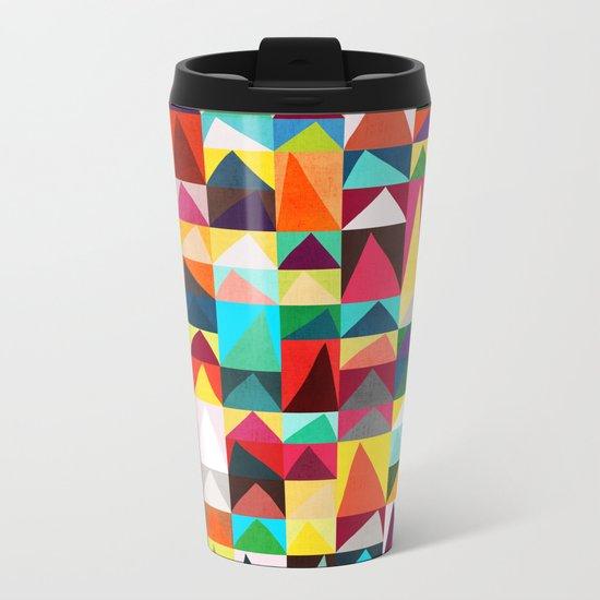 Abstract Geometric Mountains Metal Travel Mug