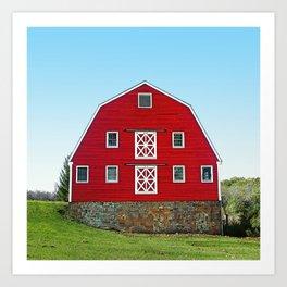 Pretty Red Dairy Barn Art Print