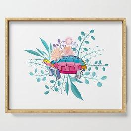 Happy Spring Tortoise Serving Tray